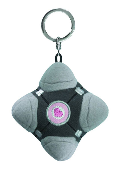 Image: Portal 2 Plush Key Chain: Companion Cube
