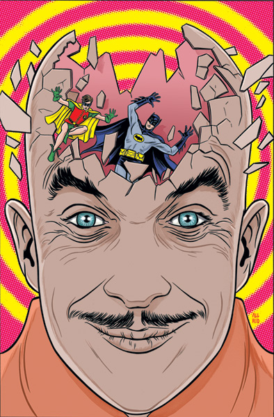 Batman '66 #16, Egghead or KC's head after starting this project?