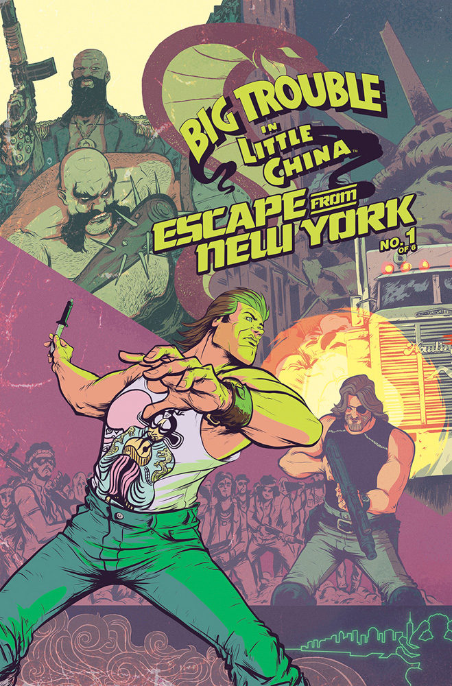 Big Trouble in Little China/Escape From New York #1 Daniel Bayliss Jack Burton cover