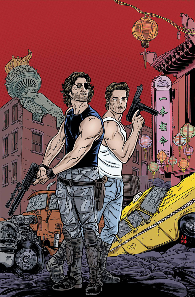 Big Trouble in Little China/Escape From New York Mike Allred Subscription Cover.