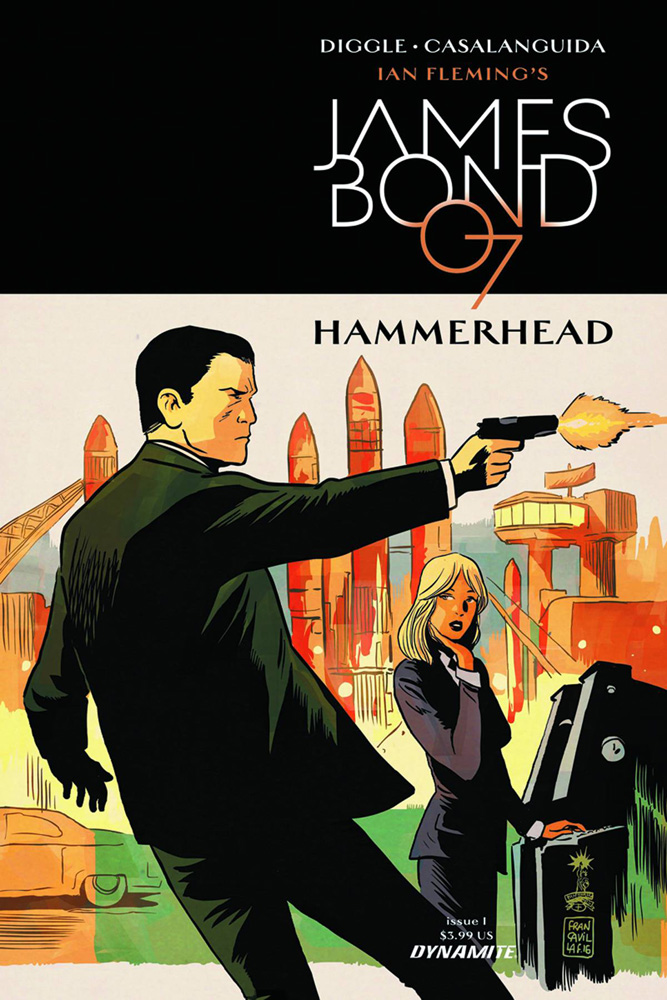 James Bond: Hammerhead #1 Francesco Francavilla cover.