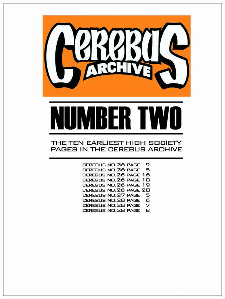 Cerebus Archive Number Two Artist's Edition