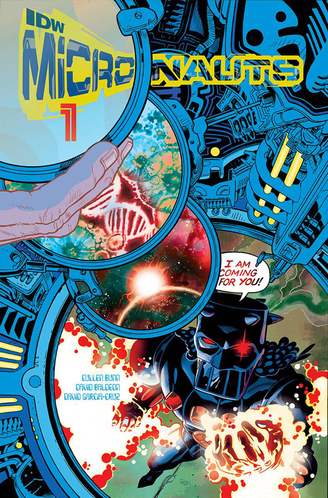 Micronauts #1 cover by J.H. Williams III