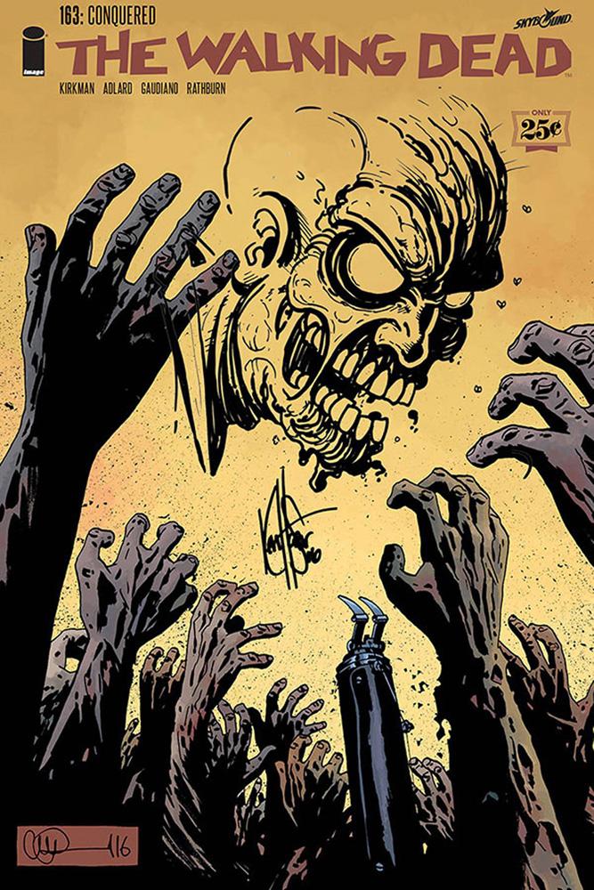 Walking dead comic zombie