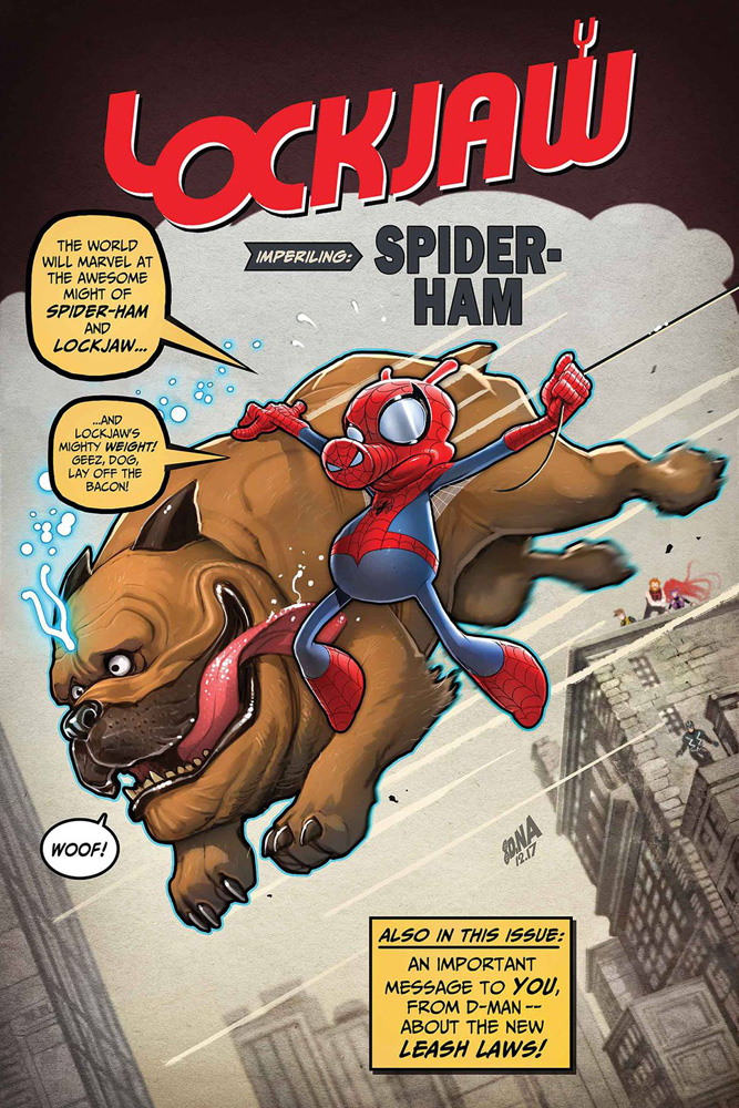 The cover for the upcoming Lockjaw #3