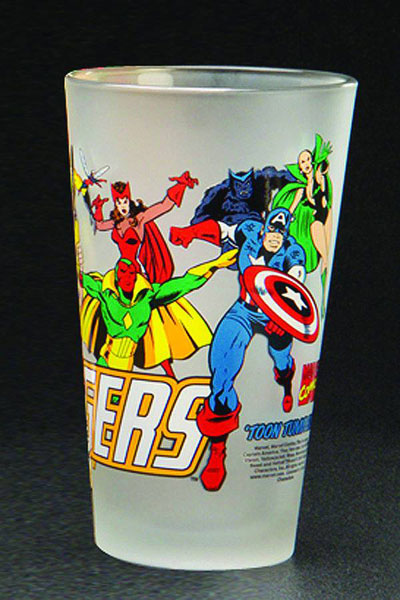 Image: Toon Tumblers: Avengers Clear Pint Glass  -