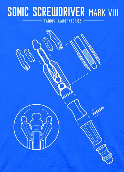 Doctor who t shirt sonic screwdriver blueprints blue xl image doctor who t shirt sonic screwdriver blueprints blue xl malvernweather Gallery