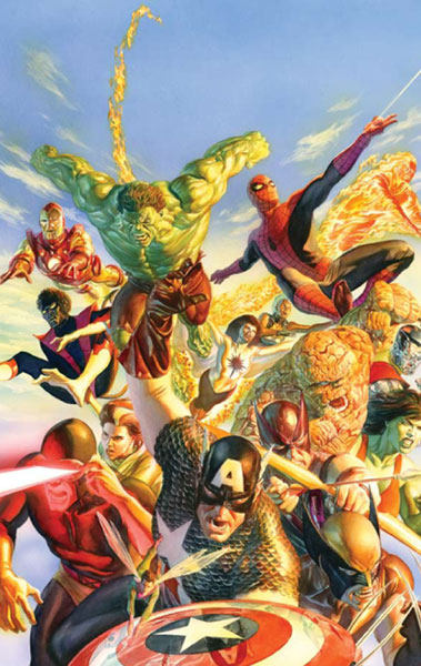 Image: Alex Ross Secret Wars Poster  - Marvel Comics