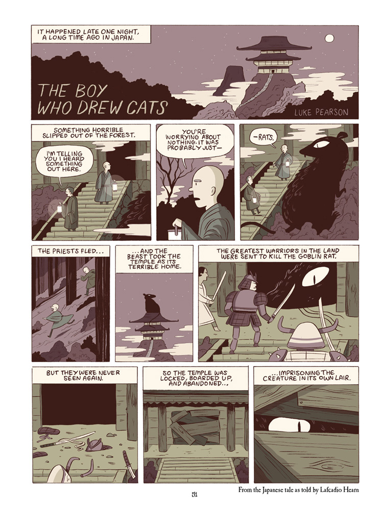 """From """"The Boy Who Drew Cats"""" by Luke Pearson."""