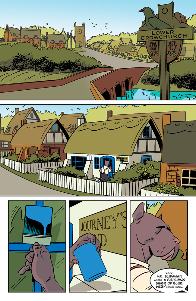 Wild's End #1 preview page 3. Art by I.N.J. Culbard.