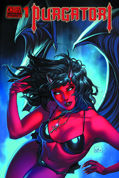 Purgatori #1 cover by Nei Ruffino.