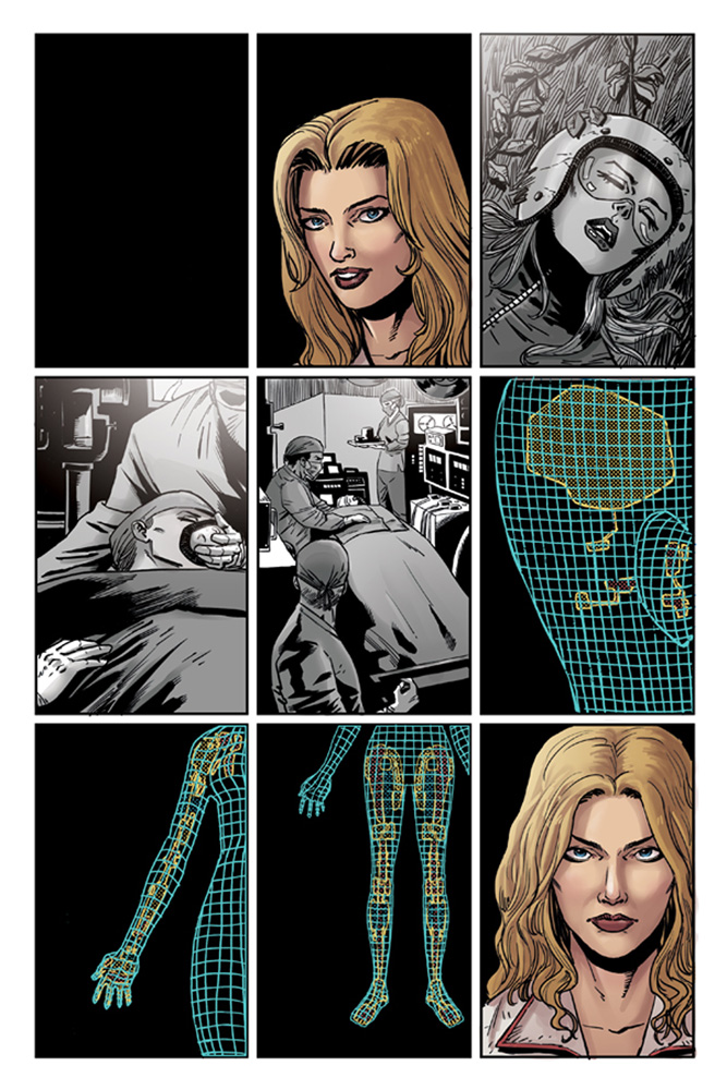 The Bionic Woman Season Four #1 preview page 1.