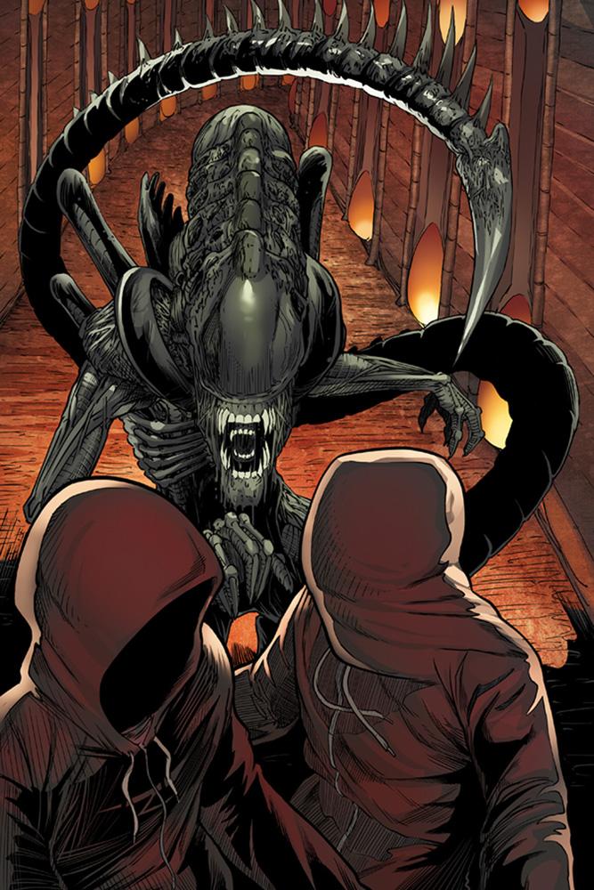 Vampirella / Aliens #1 (cover A - Hardman) - Dynamite