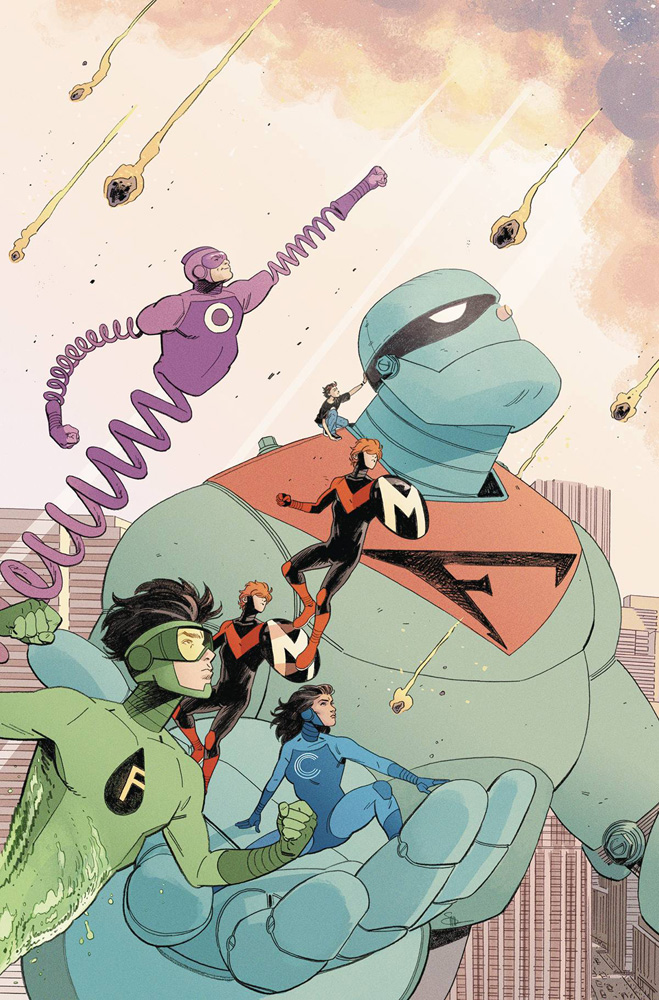 Frankenstein Jr. and The Impossibles from the cover of Future Quest #5