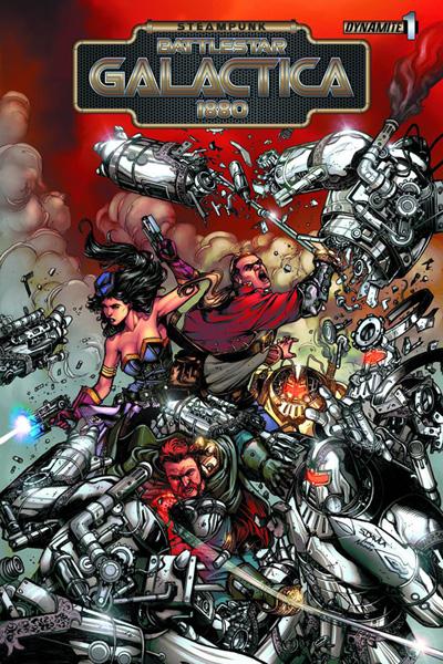 Steampunk Battlestar Galactica: 1880 #1 Sergio Davila Variant Cover