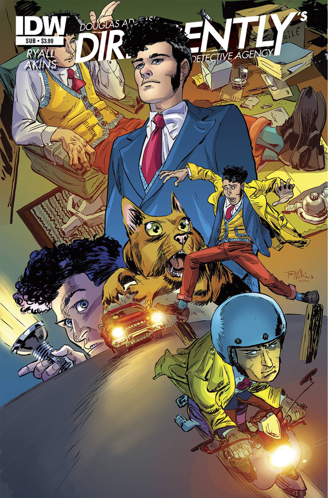 Dirk Gently's Holistic Detective Agency #1 cover by Tony Akins