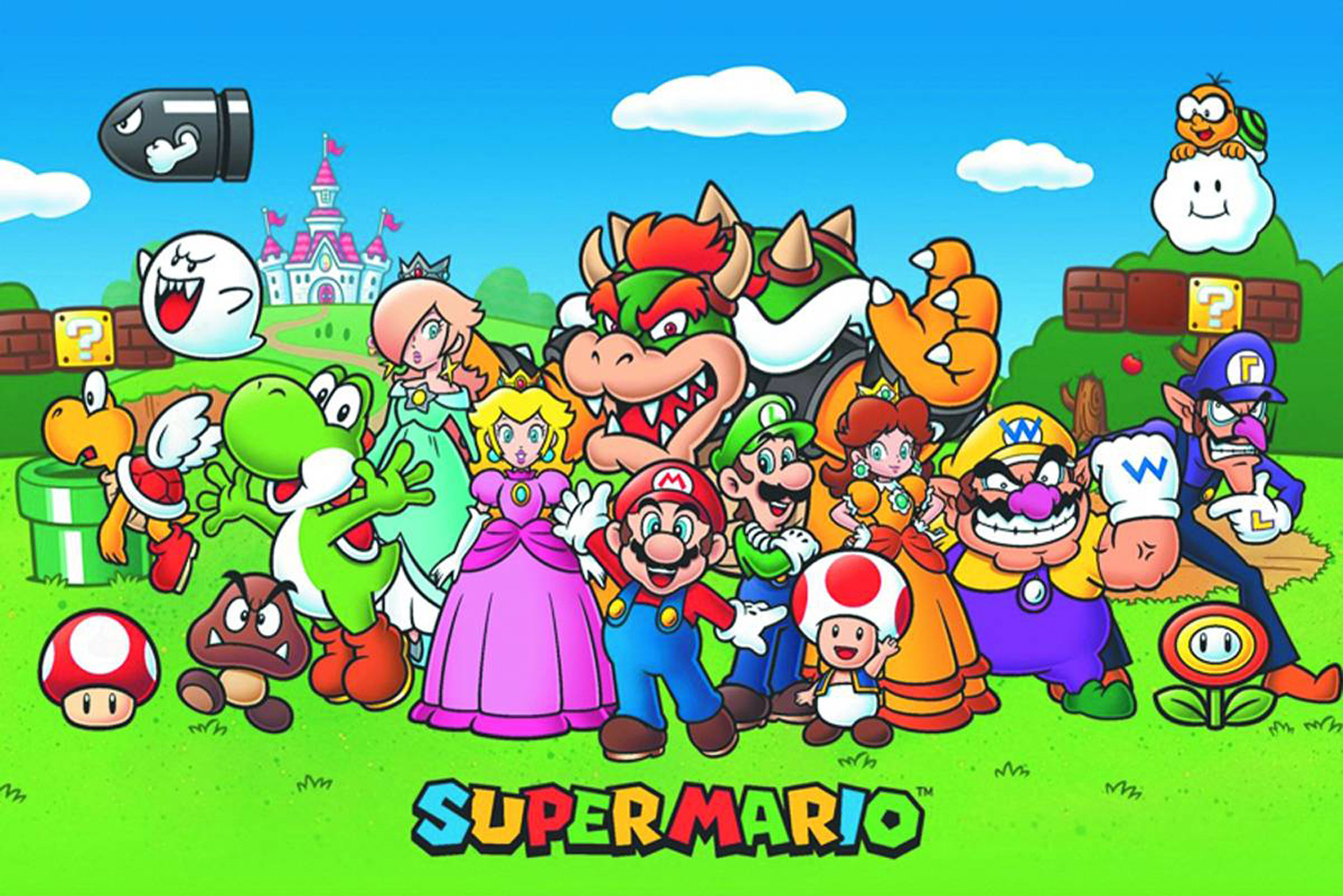 Super Mario Bros Poster Super Mario Animated 24x36