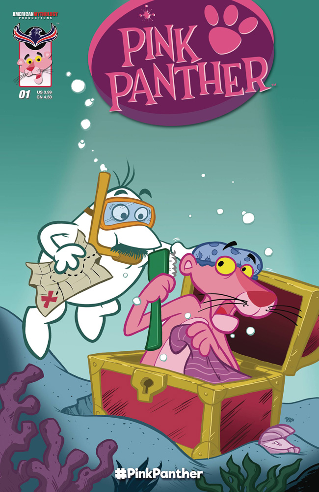 Pink Panther #1 Classic Pink cover by Adrian Ropp