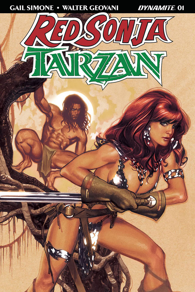 Red Sonja/Tarzan #1 Adam Hughes cover
