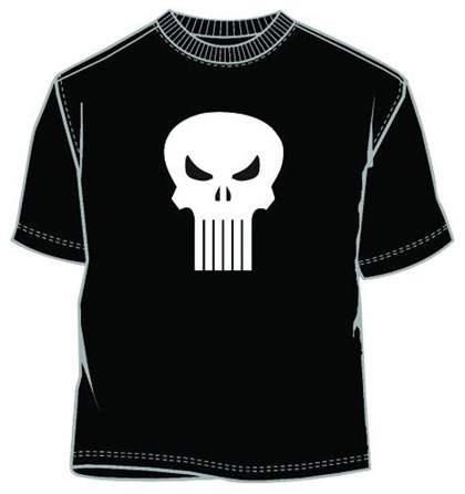 Image: Punisher: Glow Head GID Black T-Shirt  (XL)