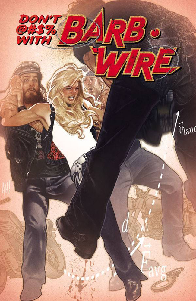 Barb Wire #1 variant cover by Adam Hughes