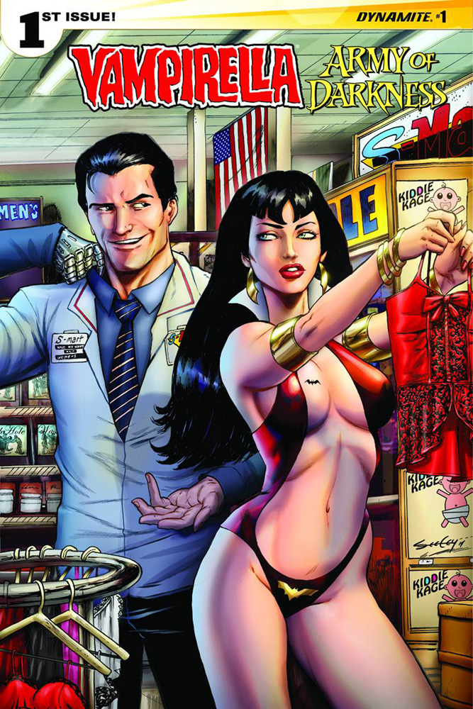 Vampirella/Army of Darkness #1 Tim Seeley Cover