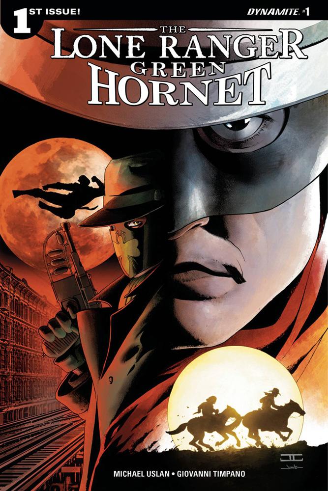 The Lone Ranger/Green Hornet #1 cover by John Cassaday
