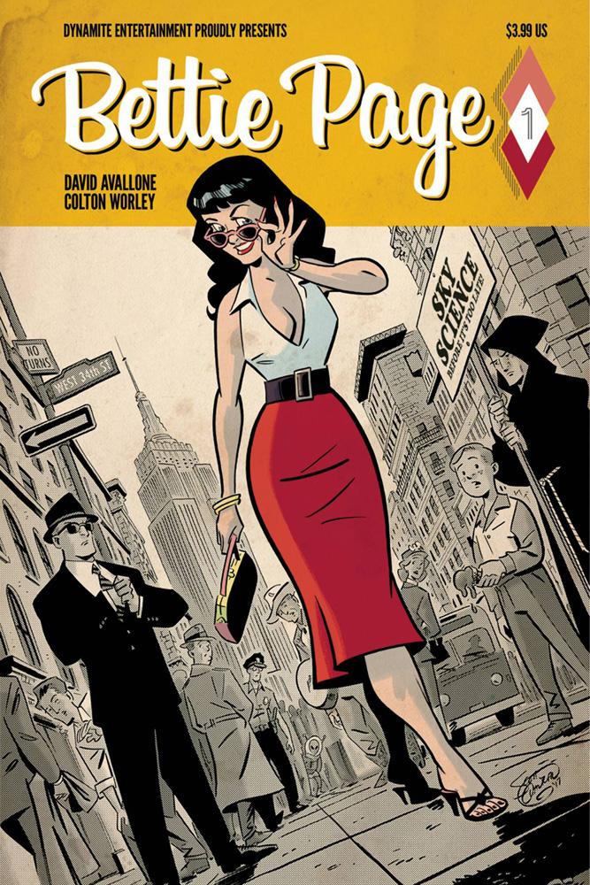Bettie Page #1 Scott Chantler cover