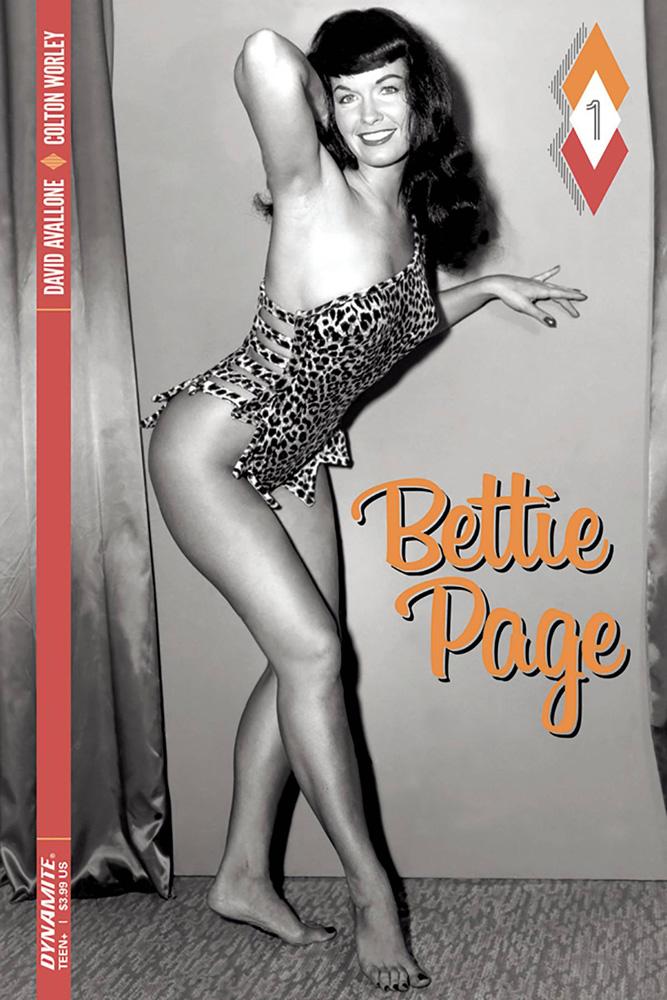 Bettie Page #1 Black & White Photo cover
