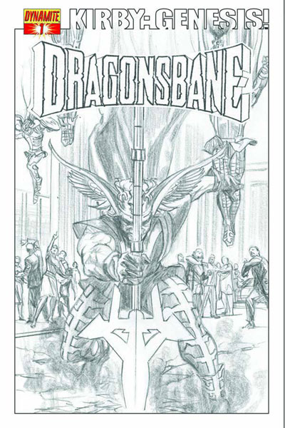 Image: Kirby: Genesis Dragonsbane #1 (25-copy Ross sketch incentive cover) (v25) - D. E./Dynamite Entertainment