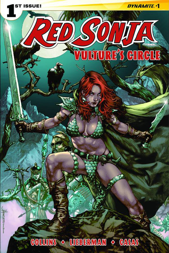 Red Sonja: Vulture's Circle #1. Cover by Jay Anacleto.