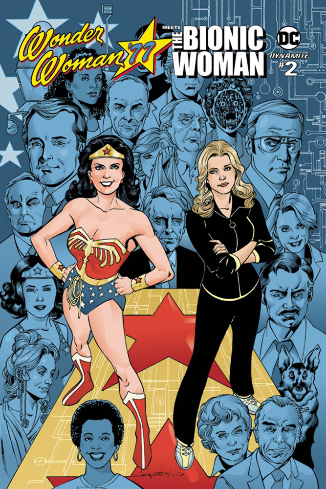 Wonder Woman '77 Meets the Bionic Woman #2 cover by Aaron Lopresti