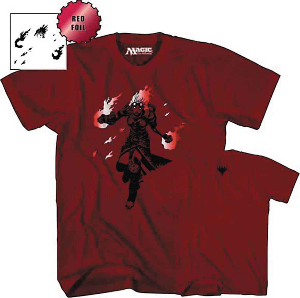Image: Magic the Gathering T-Shirt: Chandra Nalaar [Red]  (XL) - Mad Engine