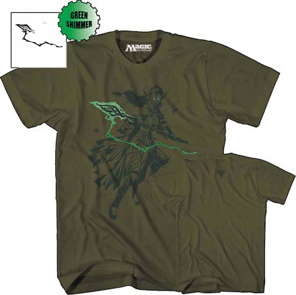 Image: Magic the Gathering T-Shirt: Nissa Revane [Green]  (XXL) - Mad Engine