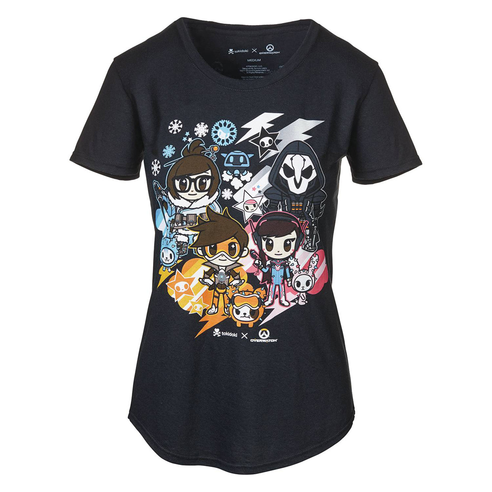 Image: Tokidoki x Overwatch Women's T-Shirt [Black]  (XXL) - Blizzard Entertainment, Inc