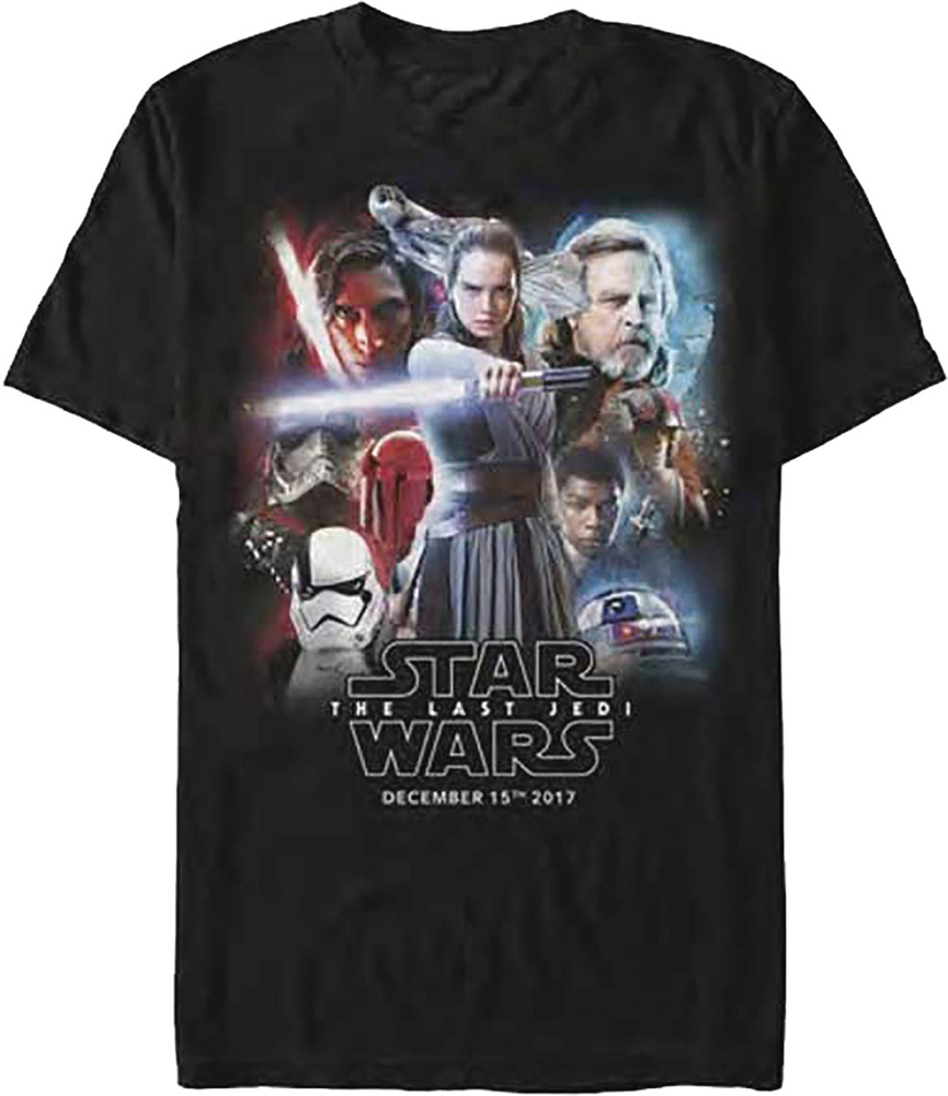 Image: Star Wars T-Shirt: E8 - Release Date Poster [Black]  (M) - Fifth Sun