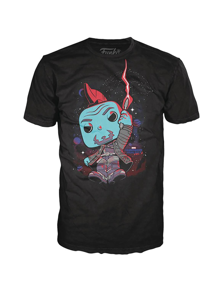 Image: Pop! Tees Marvel T-Shirt: Yondu with Umbrella  (XS) - Funko