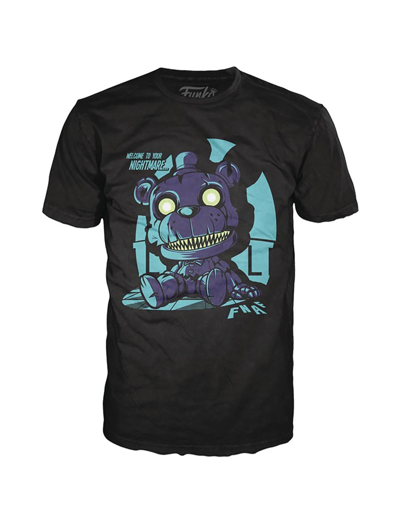 Image: Pop! Tees T-Shirt: Nightmare Freddy Sitting  (S) - Funko