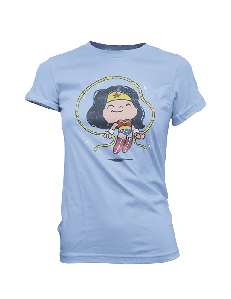 Image: Super Cute Tees - DC T-Shirt: Wonder Woman Jump Rope  (M) - Funko