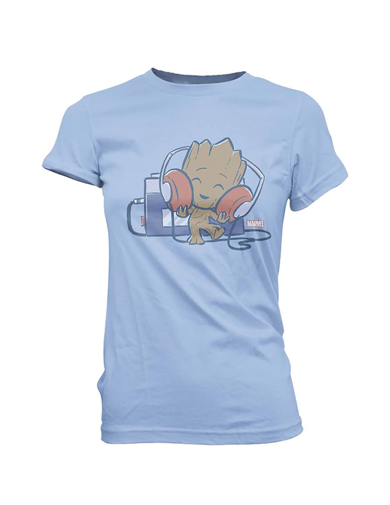 Image: Super Cute Tees - Marvel T-Shirt: Groot Tape Deck  (XL) - Funko