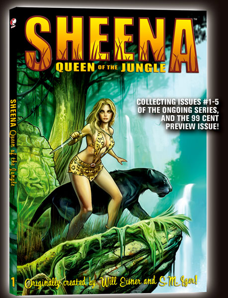 Image: Sheena: Queen of the Jungle Vol. 01 SC  - Devil's Due Publishing Inc