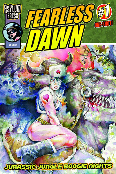 Image: Fearless Dawn: Jurassic Jungle Boogie Nights #1 - Asylum Press