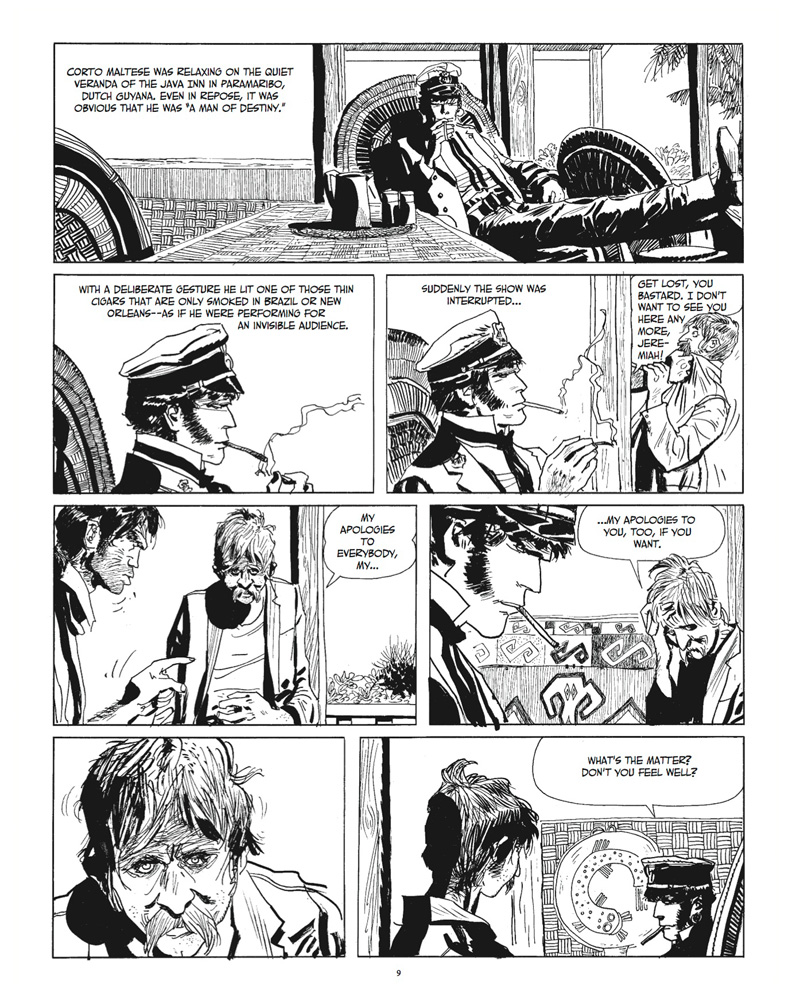 Corto Maltese: Under the Sign of Capricorn preview page