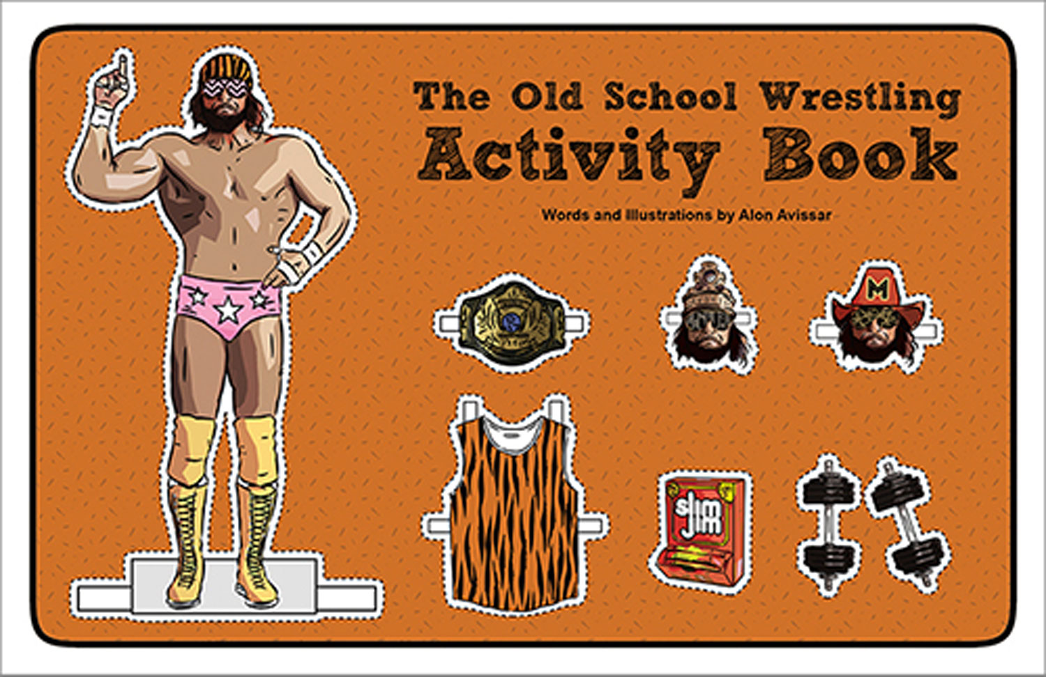 Image: Old School Wrestling Activity Book  -