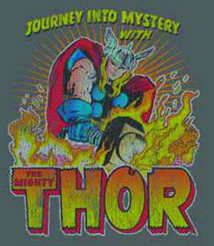 Thor: Blaze of Glory Charcoal PX T-Shirt  (XL)