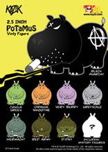 Image: Frank Kozik's Potamus 2-inch Mini Figure Case  (30 figures) -