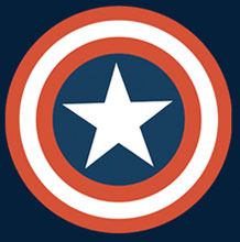 Image: Captain America T-Shirt: Symbol Youth Navy  (XL) -