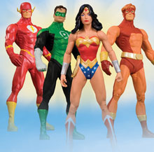 Image: Justice League America Series 3 Action Figure Set  (4) -