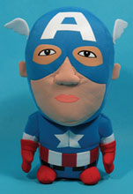 Image: Marvel Super Deformed Plush: Captain America  -