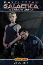 Image: Battlestar Galactica: Season Zero Vol. 01 SC  (photo cover) - D. E./Dynamite Entertainment
